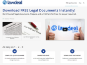 <strong>LawDeal.com Home Page</strong>