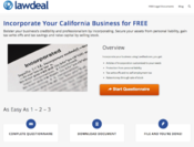 <strong>LawDeal.com Incorporation Page</strong>