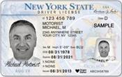 <strong>Example of new New York state driver's license</strong>