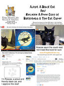 <strong>Promotional flyer for King Street Cats: a free copy of &quot;Miss Switch's Bathsheba & The Cat Caper&quot; illustrated book to those who adopt a black cat before the end of June 2014.</strong>