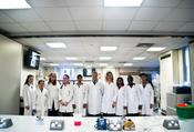 <strong>Students and King's College London mentors working on actual experiments that flew to the International Space Station. Image Credit: ISSET</strong>