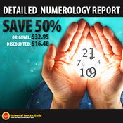 <strong>Detailed, Personalised Numerology Report - 50% Off - www.psychicguild.com</strong>