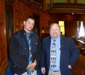 <strong>Joe Peters and Manny Cruz at Boston State House Career Day</strong>