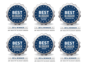 <strong>Jackson Design and Remodeling Blogger Awards 2014 winner badges.</strong>