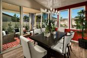 <strong>Indoor/outdoor connectivity enhances all designs at Meadow Glen in Pardee Homes' Inland Empire region. The outdoor room shown here expands a stylish formal dining room.</strong>