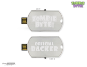<strong>Zombie Byte! Dog Tag USB Flash Drive Backer Reward | Only on Kickstarter For iOS & Android</strong>