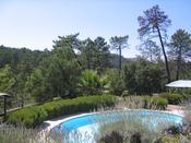 <strong>The view from the pool of beautiful Provence villa rental Les Lavandes</strong>