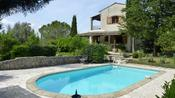 <strong>View of South France villa Le Mas du Moulin from its pool</strong>