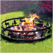 <strong>Moose Pattern CobraCo Fire Ring for Backyard Camping.</strong>