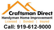 <strong>Craftsman Direct of Durham Provides Bathroom Remodeling Including Shower Replacement, Drywall, Ceramic Tile Installations and Full Makeovers</strong>