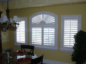 <strong>Window Treatments are our specialty at Coastal Breezz, including special shaped shutters.</strong>