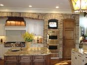 <strong>Kitchen accents using Heritage Stone by ProVia</strong>