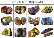 <strong>Australian boulder opal from Queensland opal mining fields</strong>