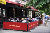 <strong>Sidewalk cafe at Talia's - Kosher Restaurant on Amsterdam Avenue 10025</strong>