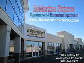 <strong>DeMartino Fixtures Supermarket & Restaurant Equipment Formally Chef's Equipment Emporium for all your food service equipment needs 920 S Colony Rd Wallingford CT</strong>