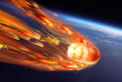 <strong>An artist's depiction of the destructive re-entry into Earth's atmosphere of ESA's fifth and final Automated Transfer Vehicle, ATV-5. Image Credit: ESA</strong>