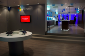 <strong>Microsoft's Shop in Shop at Surfline's Flagship Store in Ghana's capital of Accra.</strong>