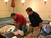 <strong>Instructor Trainer and owner Jason Goldberg trains staff at the Holiday Inn in Mount Kisco NY.</strong>