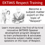 EKTIMIS Launches Innovative Training Program Designed to Develop a Network of Experts and Advocates to Promote Deeper Understanding of Respect in Society