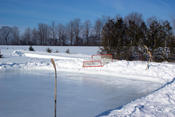Ice Rink ready for use