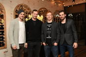 <strong>The Dallas Stars come out for Tyler Seguin's Hat Collection Launch at Forty Five Ten in Dallas - Jamie Benn - Jason Spezza - Cody Eakin - Tyler Seguin</strong>