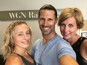 <strong>Rich Tola with Yoga students Rhonda and Vika at WGN Radio on Sunday 26, 2016 - The Frank Fontana Show</strong>
