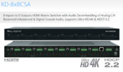 <strong>Key Digital KD-8x8CSA HDMI matrix switcher that supports 4K and HDCP 2.2</strong>