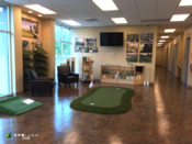 <strong>Golf lovers can test out the indoor putting green at the new SYNLawn Arizona showroom.</strong>