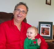 <strong>Johnny Prill shares his Holly Jolly Christmas Songs with a young fan</strong>