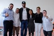 <strong>super star baseball player Albert Pujols, first basemen for the Los Angeles Angels, and his wife Deidre visited Shalva.</strong>