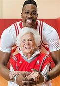 <strong>Atlanta Hawks star, Dwight Howard, worked with First Lady Barbara Bush on literacy while playing in Houston. Their partnership continues with literacy initiatives for the coming holiday season.</strong>