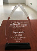 AquaWorld's sixth consecutive Top Performing Facility award, given by SDI.