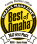 The Dentists Voted First Place Best Family Dentist Office in Omaha Magazine's Best of Omaha 2017