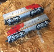 <strong>Toy train pieces emerge corrosion-free after decades of storage in Nox-Rust Paper.</strong>