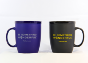 <strong>Stylish Mugs in Colbalt Blue and Black</strong>