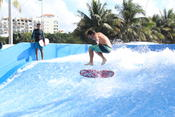 The AquaWorld Cancun FlowRider is already making quite a splash, debuting this week after a successful test run.
