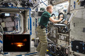 <strong>The BASS-M investigation tests flame-retardant cotton fabrics to determine how well they resist burning in microgravity. Results benefit research on flame-retardant textiles for Earth and in space.</strong>