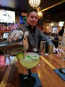 <strong>Javier Pouring a Cucumber Jalapeno Margarita</strong>