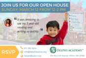 <strong>Delphi Boston open house is this coming Sunday!</strong>