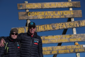 <strong>Tate & Rob Nelson at the Top of Mt. Kilimanjaro - 19,341 ft.</strong>
