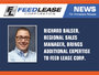 Richard Balser, Regional Sales Manager, Brings Additional Expertise to Feed Lease Corp.