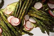 <strong>Grilled Asparagus with a Lemon-Feta Vinaigrette and Sliced Radishes</strong>