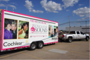 <strong>Hear the Music Project mobile hearing health clinic.</strong>