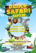 Dance Safari Show, Sunday June 4th @ The Colony Theater. Youth and Family entertainment.