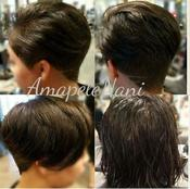 <strong>Short Cut Before and After by Arlington TX Stylist Amber Washington</strong>