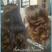 <strong>Layer cut with custom balyage by Amber at Ama Pele Salon in Arlington TX</strong>
