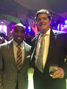 <strong>Pictured here: Chauncey F. Lufkin III with former New York Giants' running back, Atiib Kiambu Hakeem-Ah &quot;Tiki&quot; Barber, at the 2017 Robin Hood Annual Benefit.</strong>