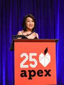 <strong>Pictured here: Keynote Speaker, Connie Chung, at the Apex for Youth 25th Anniversary Gala, photo courtesy of Apex for Youth on Facebook.</strong>