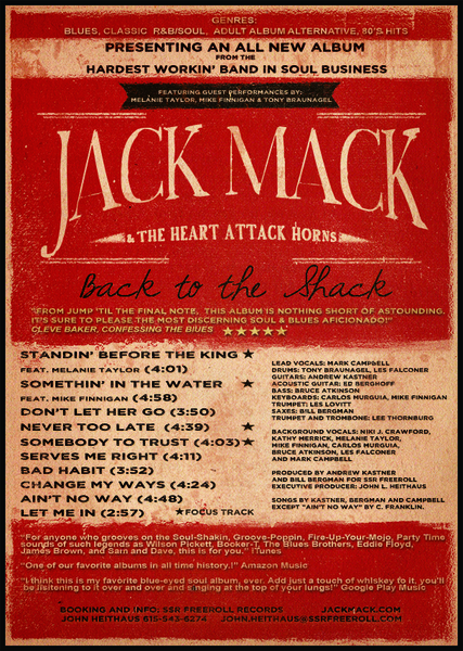Jack Mack and the Heart Attack Nominated for Best Independent Blues Contemporary CD