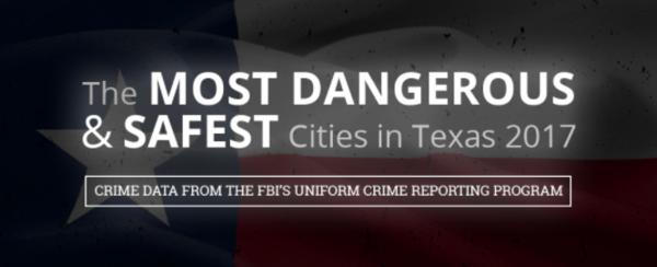 The Most Dangerous (& Safest) Cities in Texas – A 2017 Study